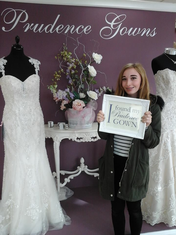 Hannah found her #promdress for her #prom in our #Plymouth store today. YAY! #DressingYourDreams #PrudenceGowns