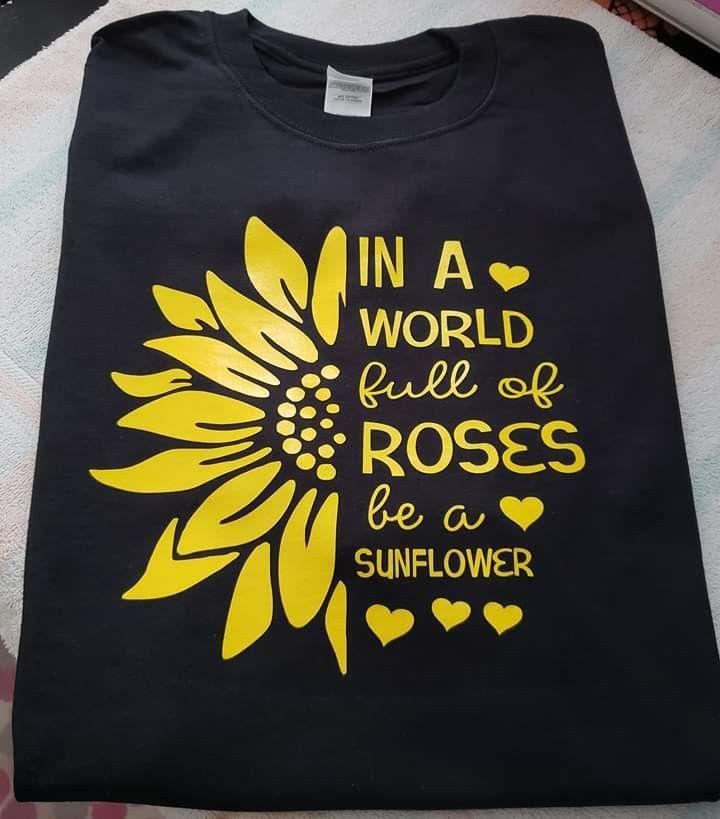 Tulip Instead Of Sunflower Vinyl Shirt Ideas Of Vinyl Shirt