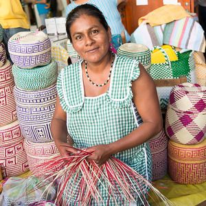 Meet Valeria who weaves her beautiful baskets in the Mercado Benito Juarez, one of the oldest markets in Oaxaca, Mexico.
