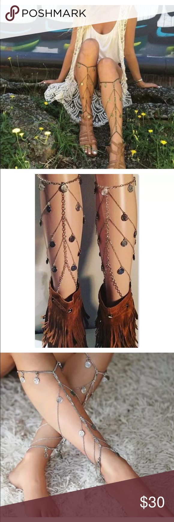 Leg Chain Set 2016 Summer festival boho chic tumblr style! Leg chain Host pick seller! Always the highest quality  Please note due to high volume of ordering it can take up to 12 business days to process order Jewelry