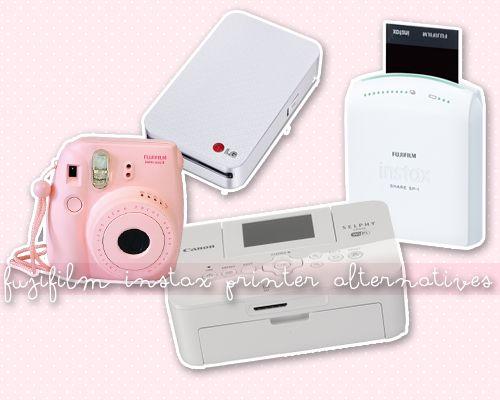 Alternative Printers to the Fujifilm Instax Mini 8 to achieve the faux polaroid look.  Fujifilm Instax Share Smartphone Printer LG Pocket Photo Portable Photo Printer Canon Selphy  Wireless Compact Printer