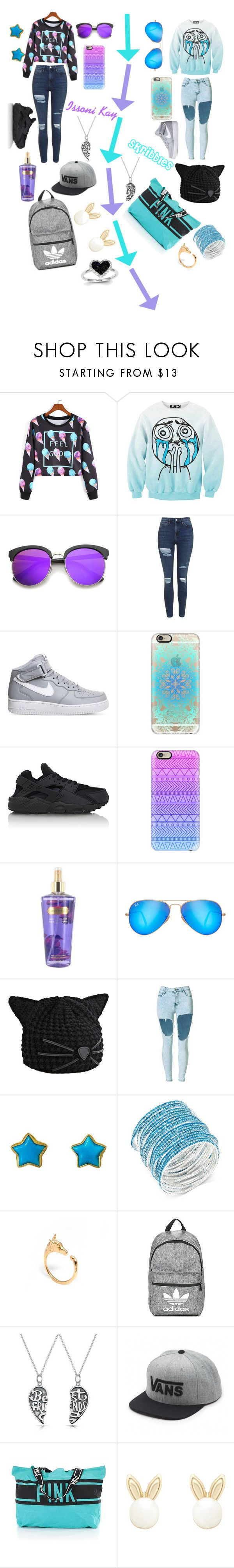 """MY best friend"" by babykaaat ❤ liked on Polyvore featuring Chicnova Fashion, ZeroUV, Topshop, NIKE, Casetify, Ray-Ban, Karl Lagerfeld, Marie Hélène de Taillac, ABS by Allen Schwartz and LeiVanKash"