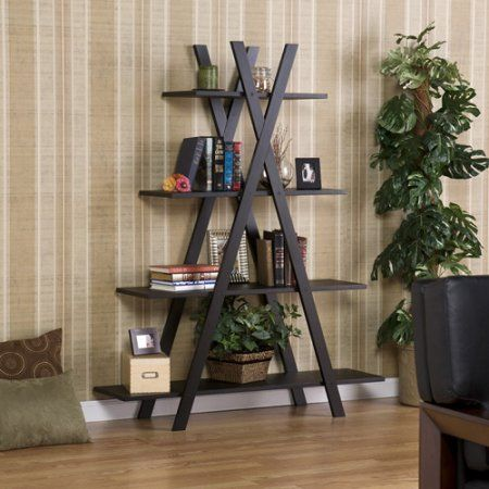 Equis 4-Tier Open Shelf, Black
