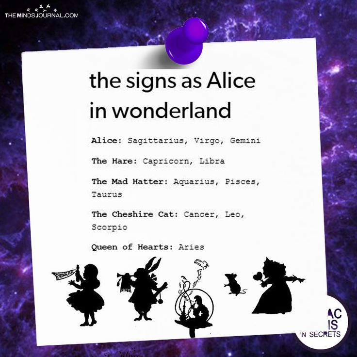 The Signs As Alice In Wonderland - https://themindsjournal.com/signs-alice-wonderland/