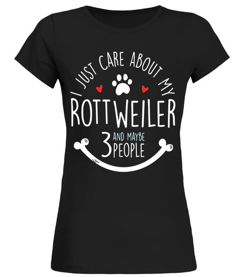 Rottweiler Shirt For Women Girls And Rottweiler Lovers Rottweiler