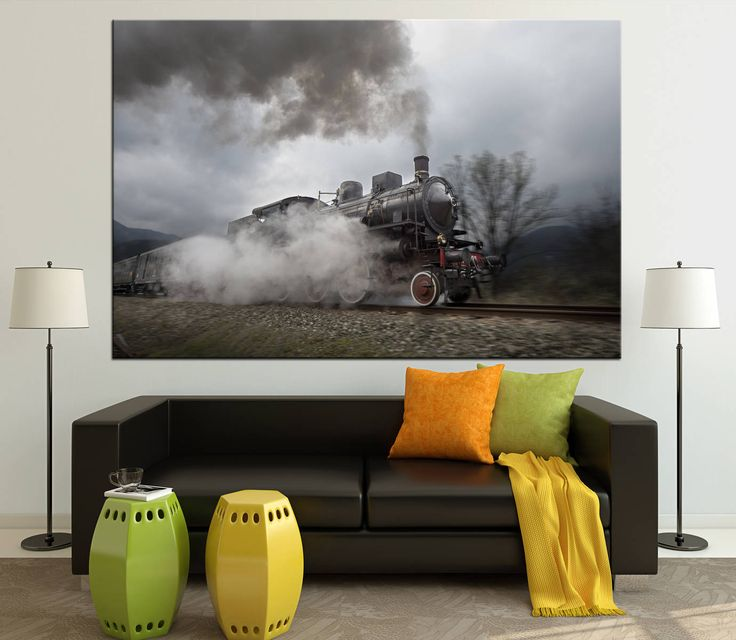 Large Canvas Print Old Steam Train Ready to Hang. Old Train Wall Art Multi Panel Photoprint. Multi-Sized Canvas print by CanvasPrintStudio on Etsy