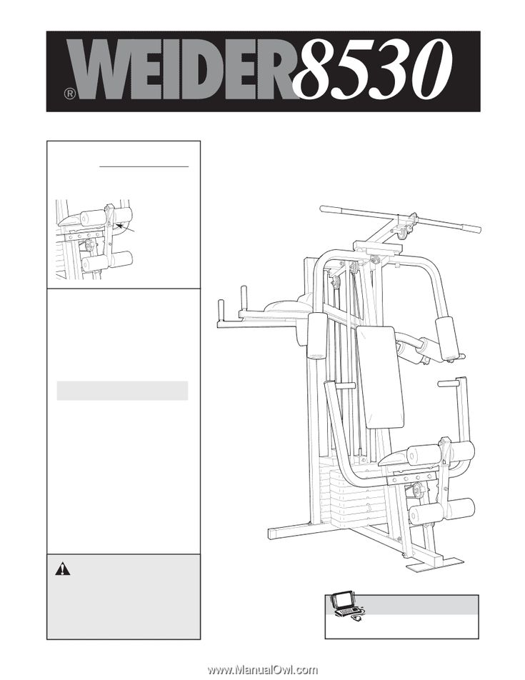 Weider 8530   User Manual   At home gym, Home workout