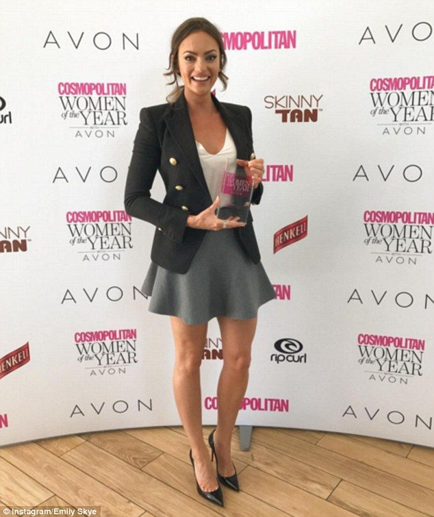 Winnings: Gold Coast fitness blogger, Emily Skye (pictured), won Social Media Star of the Year at the Cosmo Women of the Year Awards on Thursday