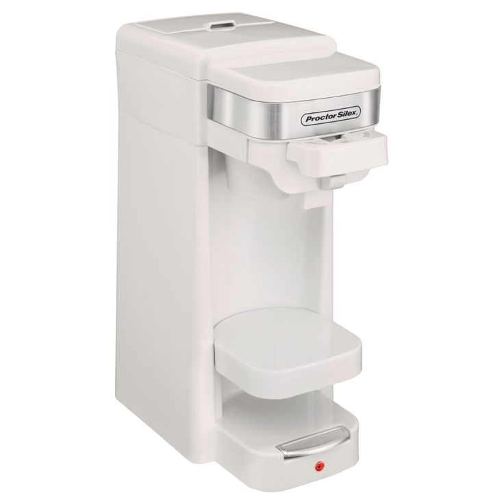 Proctor Silex 14oz. Single Serve Coffee Maker - White 49978