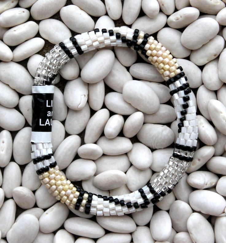 Nude, White, Silver, and Black - Lily and Laura Bracelets