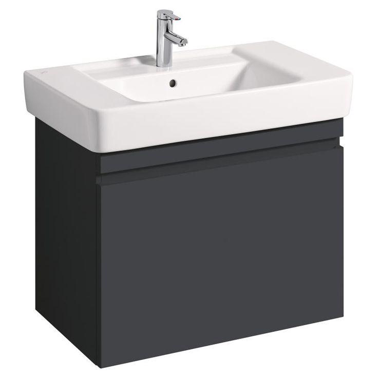 Keramag Renova Nr. 1 Plan Waschtischunterschrank 350 euro B: 77,6 H: 58,6 T: 43,8 cm Front und Korpus lava matt