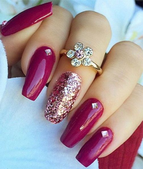 Best 25 dark pink nails ideas on pinterest matte pink nails most adorable nail art for prom prinsesfo Gallery