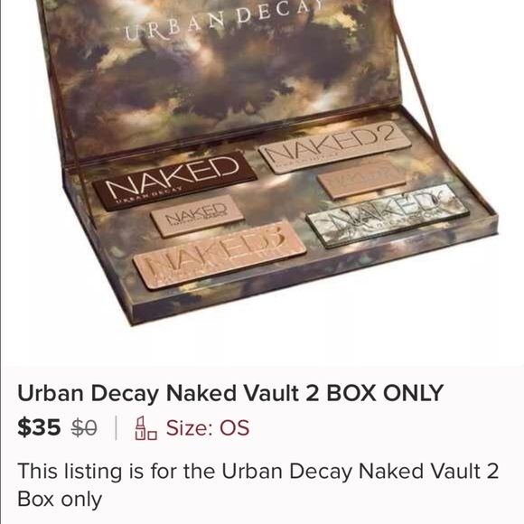 ISO BOX ONLY URBAN DECAY NAKED VAULT 2 Please let me know if you have it! MAC Cosmetics Accessories
