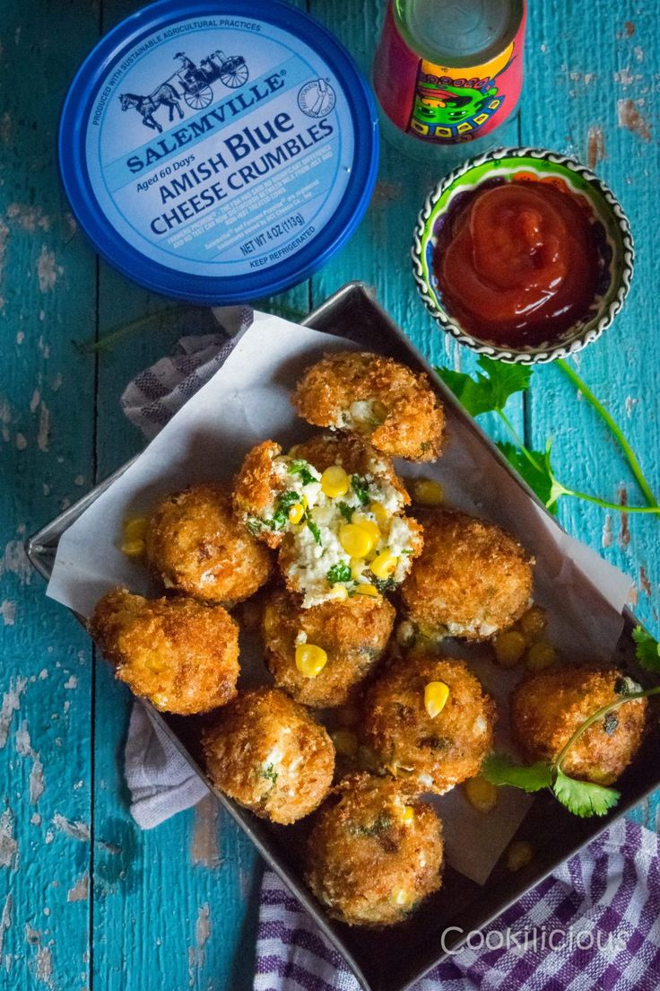 Add a little Blue to your Holidays with Paneer Cheese Corn Balls