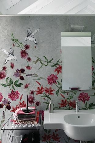 Full sized wall coverings that hangs like wallpaper.