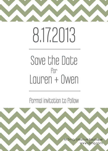Invitations & Cards – Exclusive Lines for 2013 | r3mg:: creative boutique | www.r3mg.com | Save the Dates, Chevrons, Multiple Colors, Printable