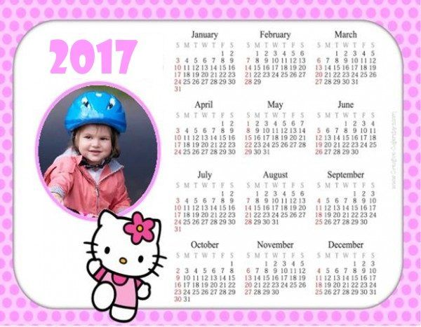 Hello Kitty Calendar with photo