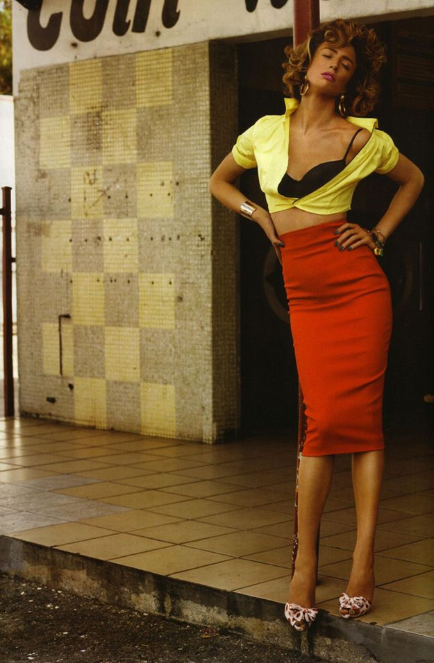 Heat Wave  Photographer: Josh Olins  Magazine: Vogue UK  Date: May, 2011  Stylist: Kate Phelan  Model: Raquel Zimmermann