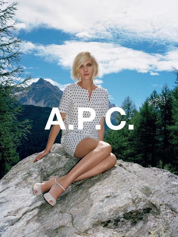 A.P.C. S/S 2014 with Aline Weber | Photographed by Walter Pfeiffer