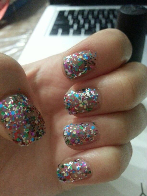Multicoloured glitters