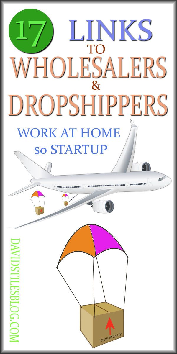 17 LINKS TO DROPSHIPPERS AND AFFILIATE COMPANIES - MAKE MONEY FROM HOME. #wholesalers, #dropshippers From: DavidStilesBlog.com