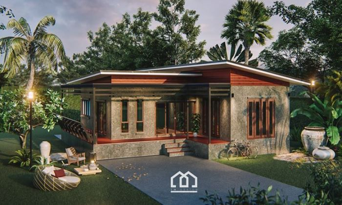Modern Bungalow House With Three Bedrooms And Open Veranda Cool House Concepts Modern Bungalow House Modern Bungalow Beautiful House Plans
