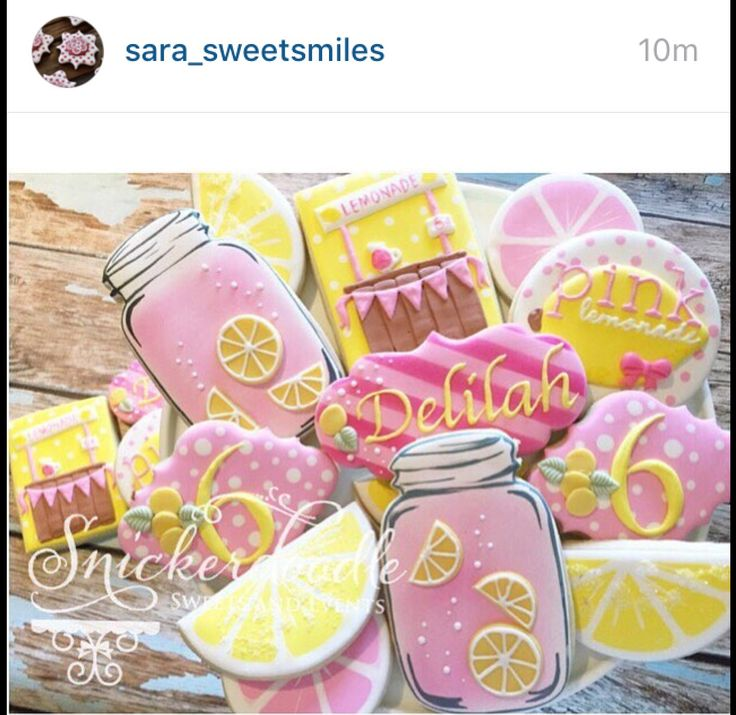 Lemonade decorated cookies