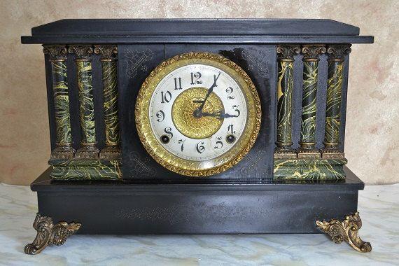 Antique Mantle Clock Vintage E Ingraham by WidhalmsCollectibles