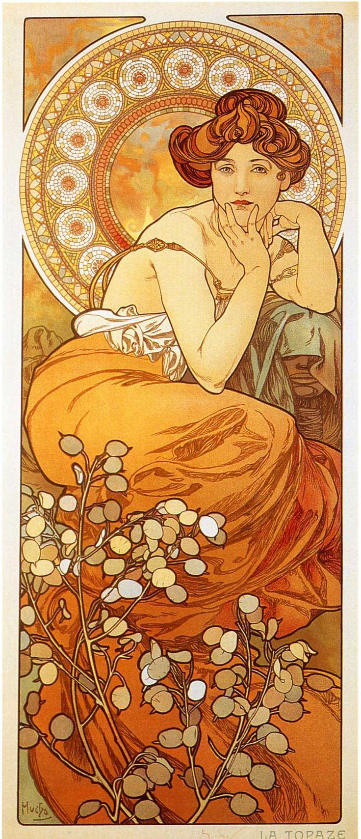 art nouveau mucha | Art Nouveau Portrait Class Overview - Blog - Heather Shirin - Fine ...