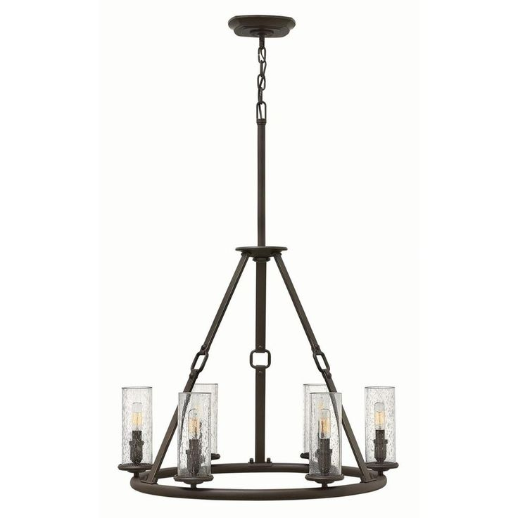 Hinkley Lighting At Home TraditionalTransitionalRustic Single Tier Chandeliers In A Decorative Oil Rubbed Bronze Finish