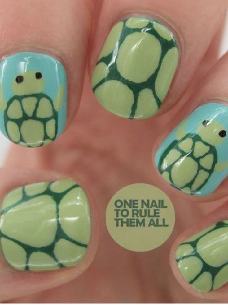 Cute turtle nails 🐢