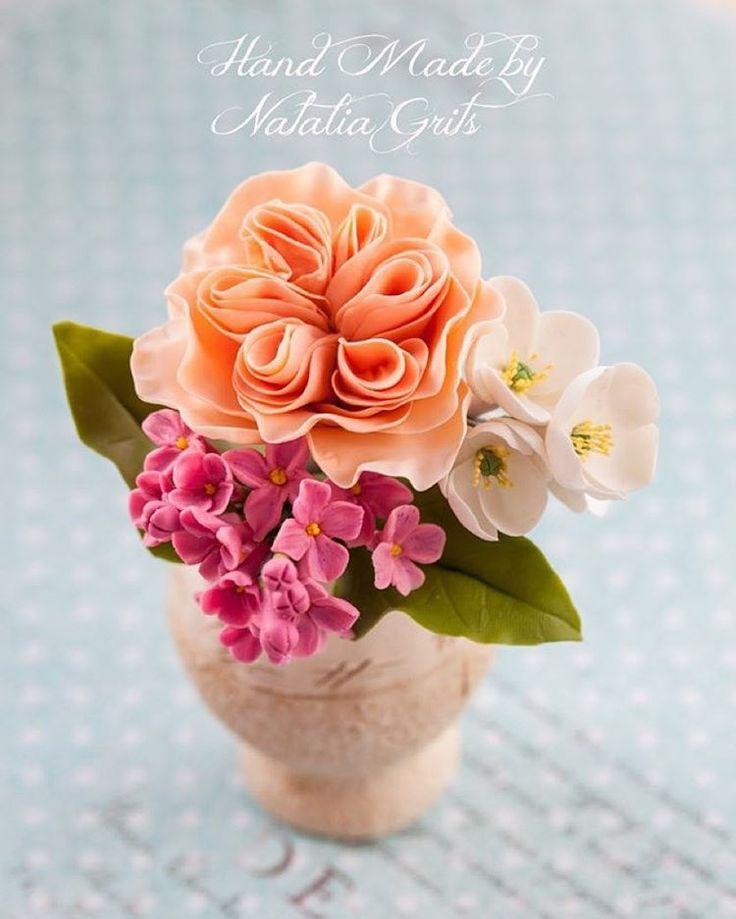 flowers, coldporcelain