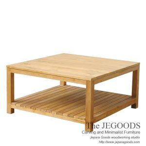 Pesagi Kotak Coffee Table Teak Minimalist Contemporary Furniture Jepara. Model meja tamu minimalis modern. Kontraktor mebel Jepara kualitas ekspor grade A. #teakfurniture #minimalistcoffeetable #minimalistfurniture #indonesiafurniture #teakcoffeetable