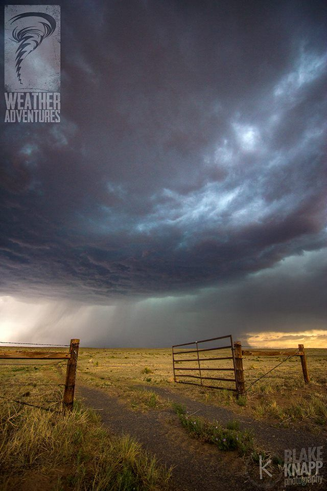 Open for Adventure... This lonely gate seemed to invite us into the storm back in June of 2013. I love it when we find ourselves in the middle of nowhere, with no other chasers around and a storm seemingly just for us in that moment