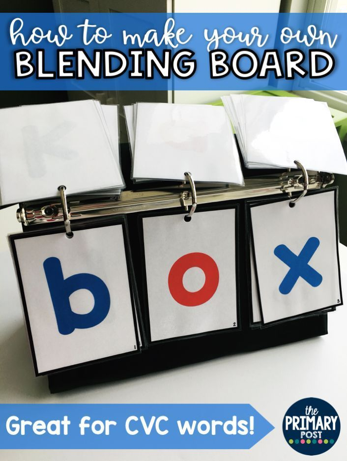 Blending Board Letters for CVC Words, great for RTI kids or introducing blending