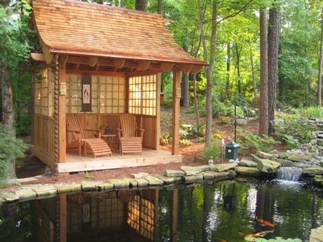 Raleigh Koi Teahouse Japanese Garden Design Cary Nc Tiny House Design Elements Pinterest