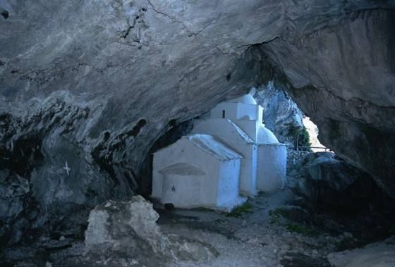 The Chapel of Panagia Makrini in Samos. Greece