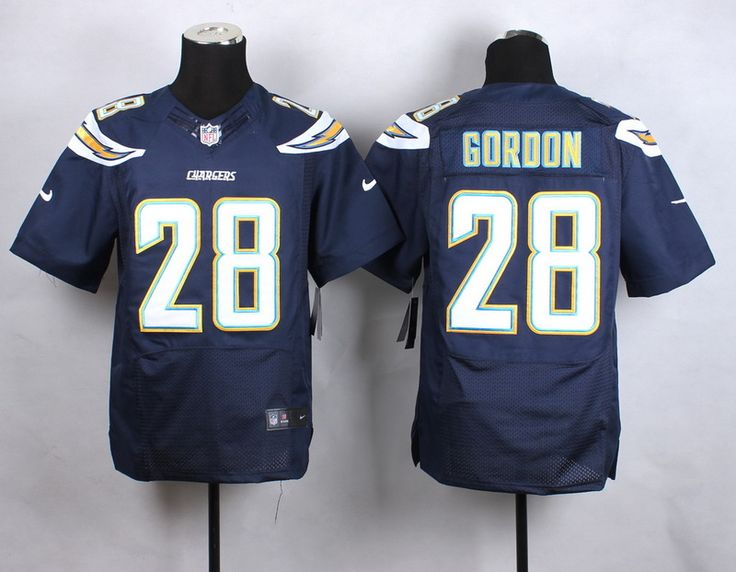 Men's NFL San Diego Chargers #28 Melvin Gordon Dark Blue Elite Jersey