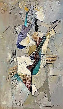 """Beltracchi """"Mann mit Gitarre"""" a la Picasso"""