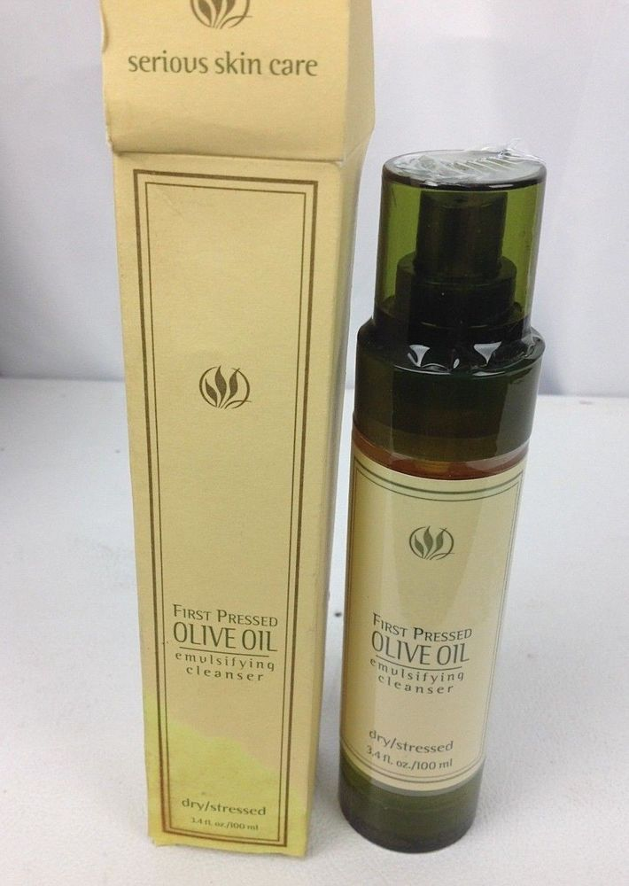 New Serious Skin Care First Pressed Olive Oil Emulsifying Cleanser 3 4 Oz Seriousskincare Serious Skin Care Skin Care Cleanser