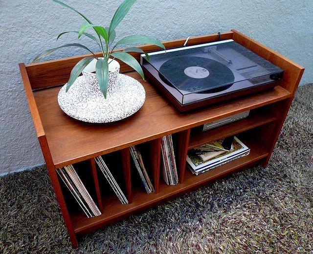 Mid Century Danish Modern Record Cabinet