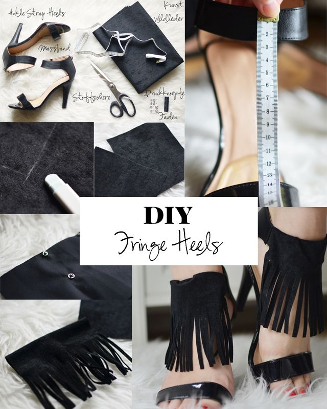 DIY - Do It Yourself How to make your own fringe heels or fringe sanadals. http://puppenzirkus.com/fringe-heels/