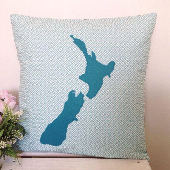 Cushion Cover Maze Fabric Teal New Zealand by natandalicreative