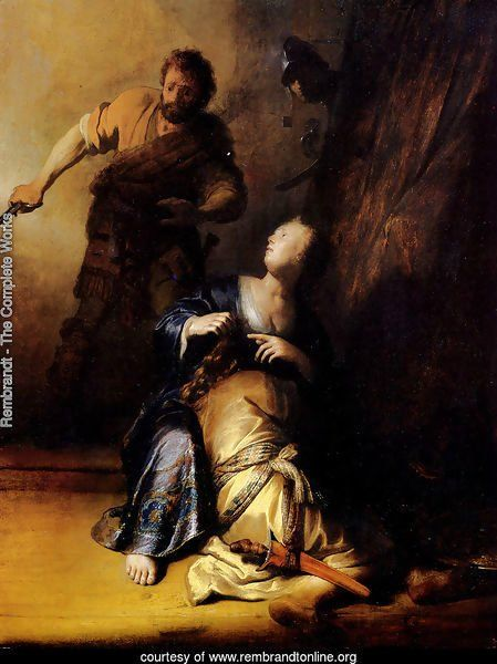 Samson And Delilah -Rembrandt  between 1629 and 1630
