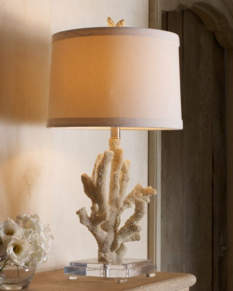 Coral Lamp, this site has lots of beautiful beachy decor