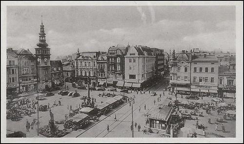 Ostrava, Masarykovo náměstí 1942