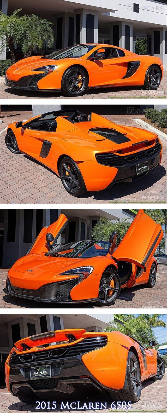 2015 McLaren 650S, Tarocco Orange Exterior, Black Alcantara Interior, 3.8L V8 Twin Turbo 641hp @ 7000rpm 500lb-ft @ 3000rpm, 7 Speed Dual Clutch Transmission. #mclaren #650s #mclaren650s #supercar #supercars #sportscar #sportscars #mclarenphotos #luxury #luxurycars #gocars