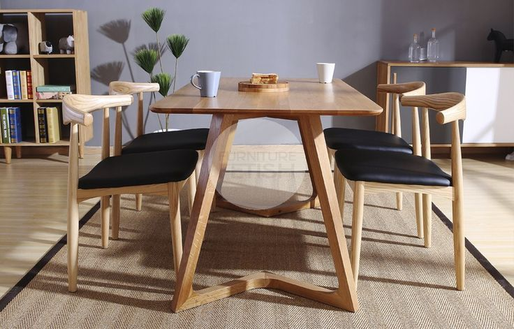 Urban Geo Dining Table - Solid American Oak Natural