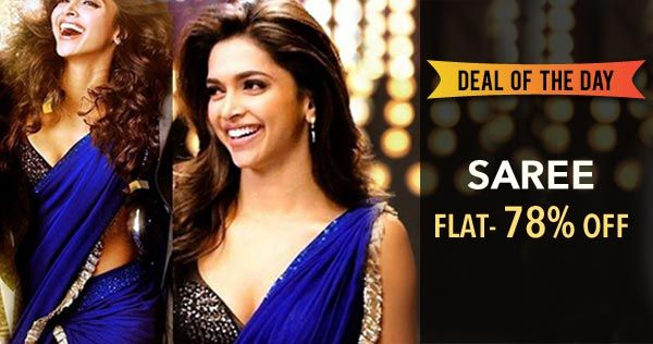 Deepika Padukone Blue Chiffon Saree at 78% Off.