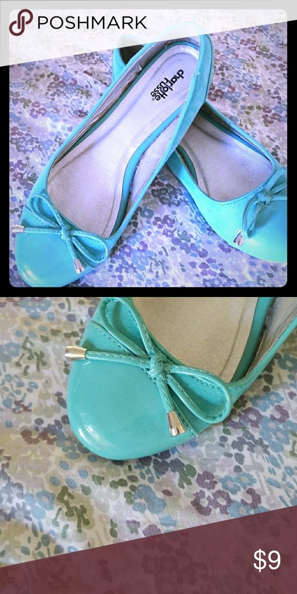 Charlotte Russe teal flats Charlotte Russe teal flats size 9 Charlotte Russe Shoes